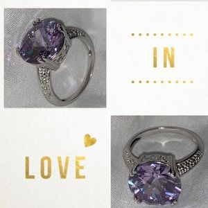 Light Purple Dazzling Size 6 Ring